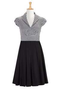 houndstooth dress eshakti
