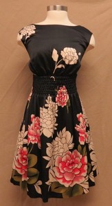 Jessica Simpson Black Asian Flower Dress