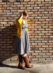 Grey Knit Dress 2