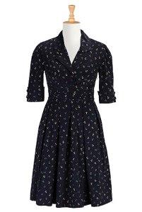 Anchor Print Dress