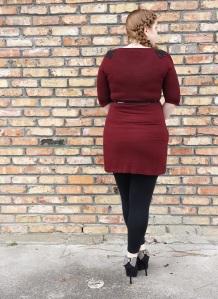 dress and leggings back