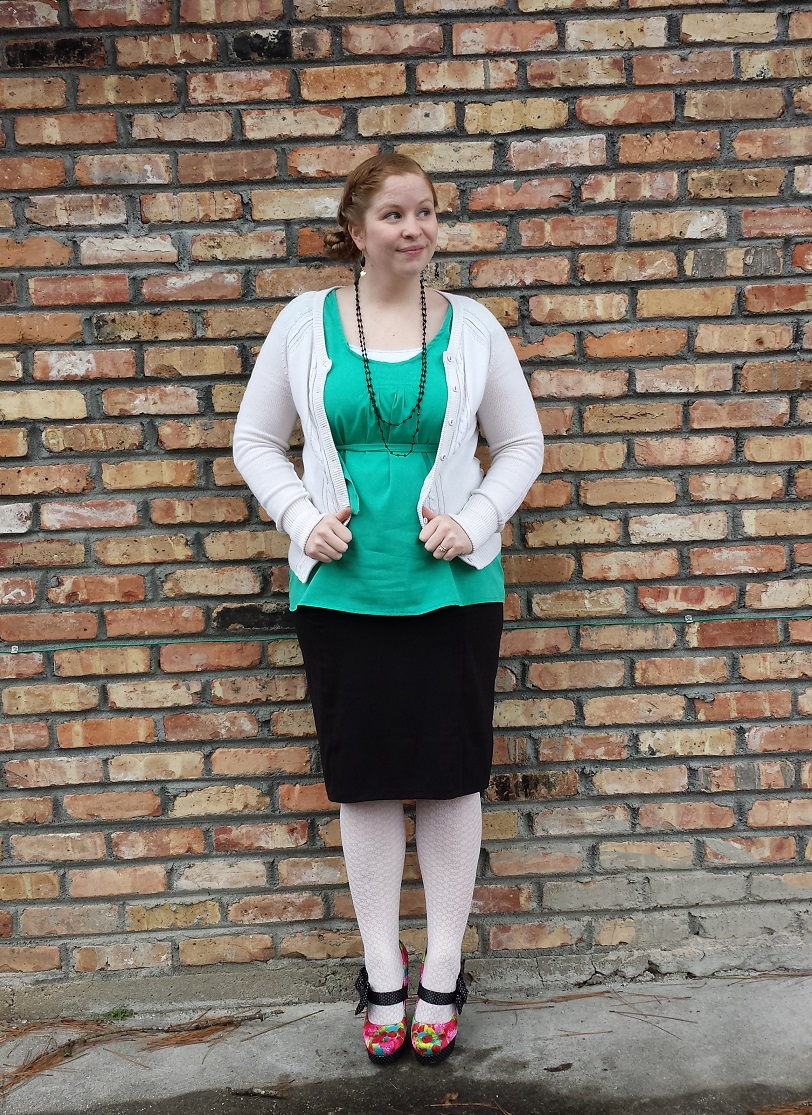 Shop With Beth What I Wore To Church - Pencil Skirt and Blouse