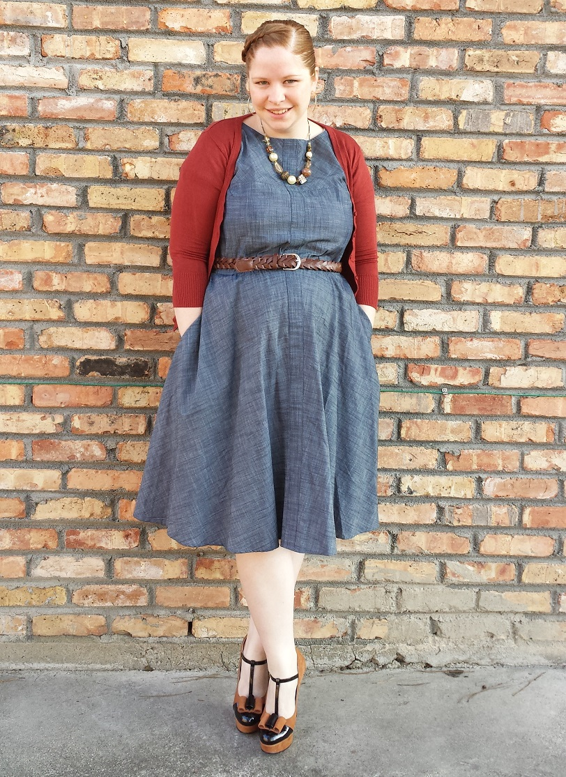 3ad75b8d2ff94 What I Wore To Church – Chambray and Earth Tones   Shop With Beth