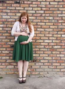 Green skirt Outfit 4