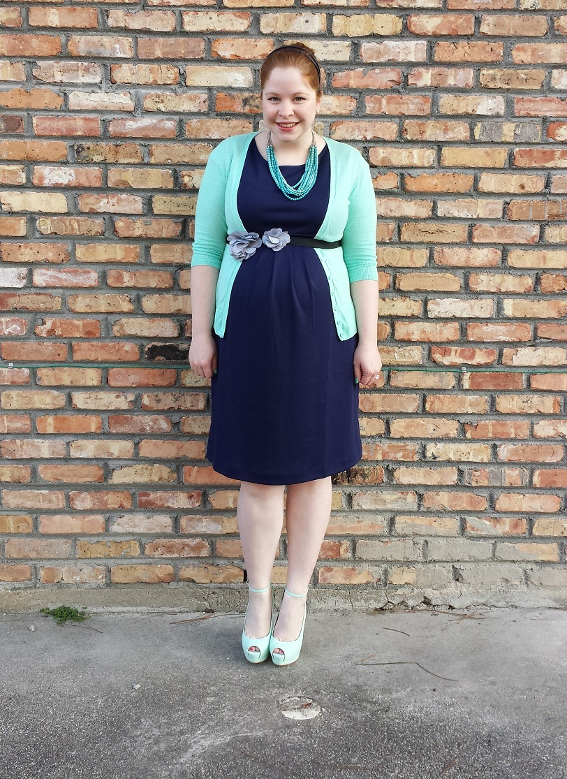 6bb8a08172c Shop With Beth  What I Wore To Church - Navy and Mint