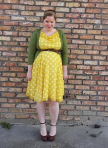 Yellow polka dots 2