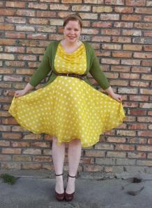 Yellow polka dots 3
