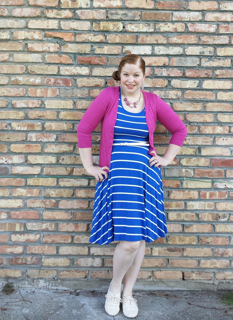 8b9a87fc980cf What I Wore To Church – Blue Dress and Oxfords | Shop With Beth