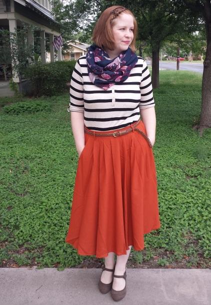 Orange Tiger Lilies Skirt 1