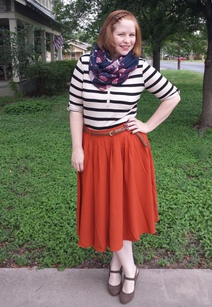 Orange Tiger Lilies Skirt 2